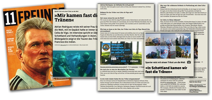 Molaviajar en la revista Alemana 11Freunde