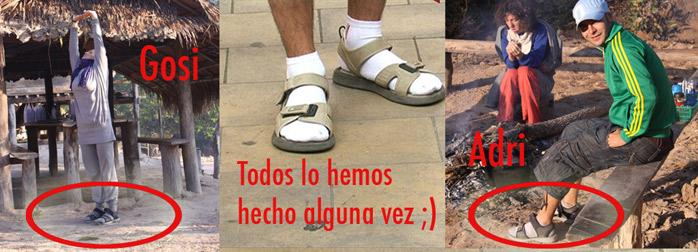 foto calcetines y chanclas