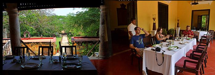 comida en Hacienda Uayamon