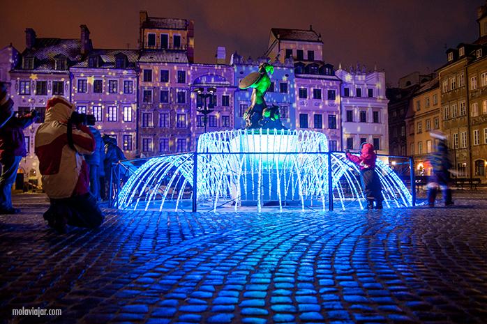 varsovia de noche. Qué ver en Varsovia en un día