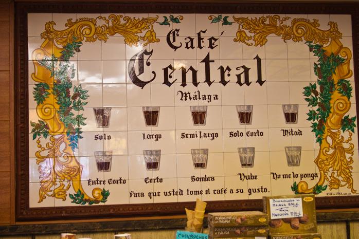 cafe en Malaga pedirlo