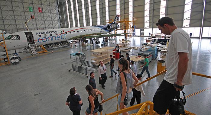 hangar de Aeroméxico en Queretaro