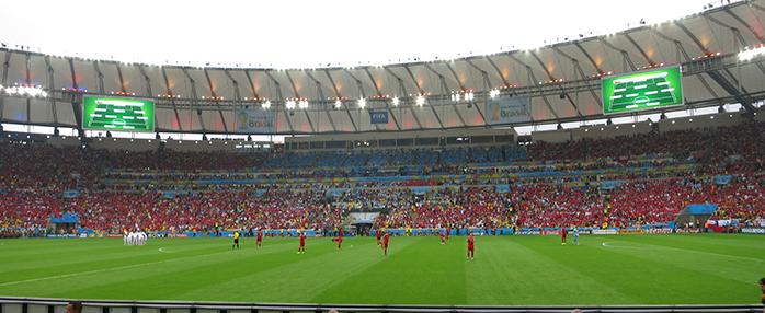 maracana durante mundial de brasil