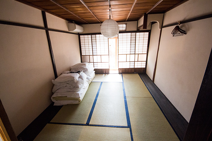habitacion tipo japonesa en kyoto