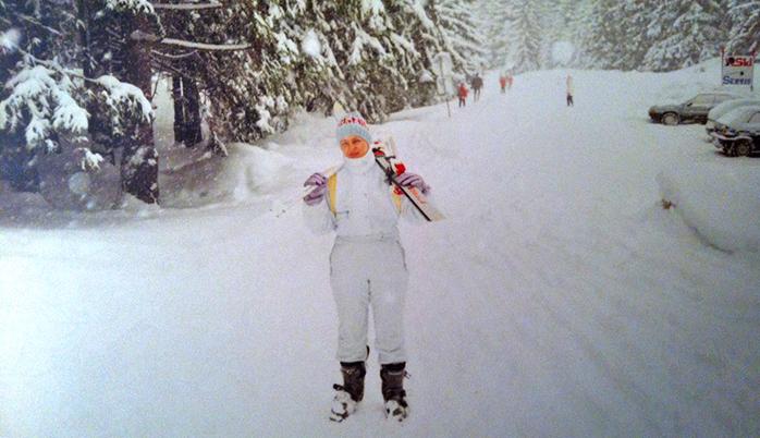 Gosia esquiando