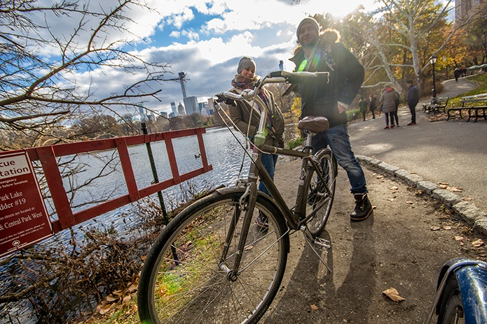 Nueva York. Alquiler de bicicletas en Central Park