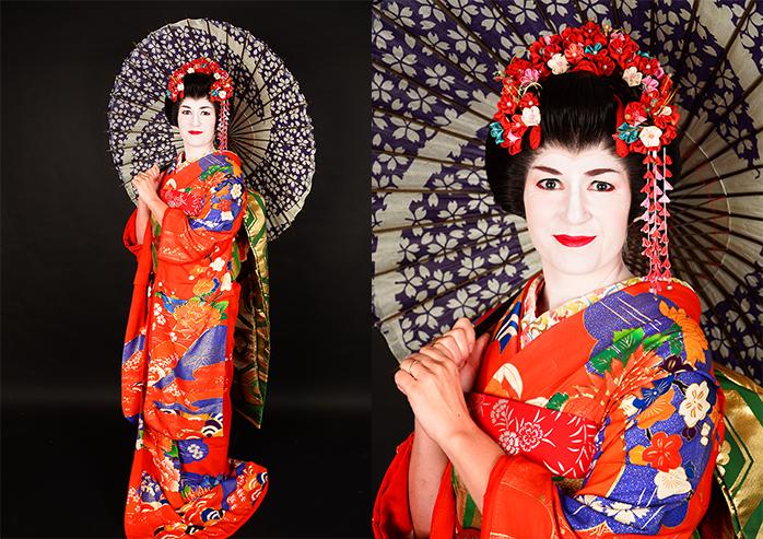 ropa de una geisha