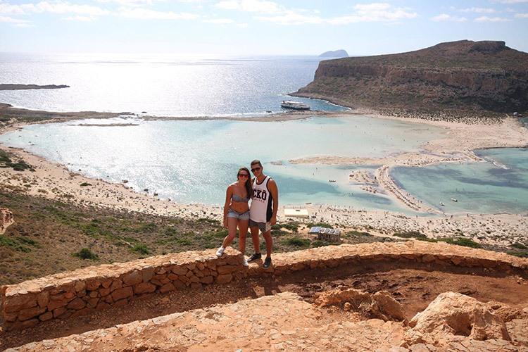 Playa de BALOS en Creta (Grecia)